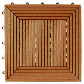 Däck & Balkongplatta Teak InstaClick -. 295 x 295 x 26 mm, 4 stk/frp