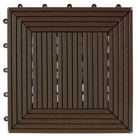 Däck & Balkongplatta Antique Oak InstaClick.- 295 x 295 x 26 mm ,4 stk/frp