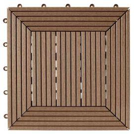 Däck & Balkongplatta Chocolate InstaClick - 295 x 295 x 26 mm ,4 stk/frp