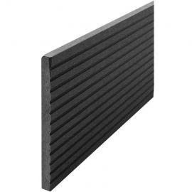 Komposit täckbräda charcoal 10 x 130 x 2400 mm för komposittrall och exteriör